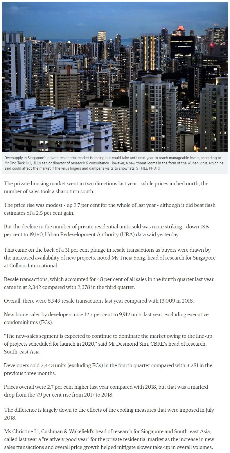 https://www.straitstimes.com/business/property/singapore-private-home-prices-inch-up-27-for-2019 Part 1